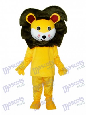 Small Yellow Lion Mascot Adult Costume Animal