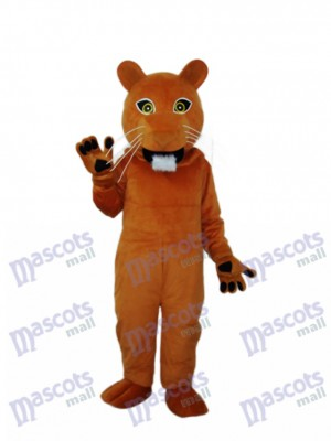 Golden Cougar Mascot Adult Costume Animal