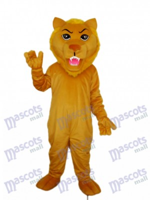 Old Brown Lion Mascot Adult Costume Animal