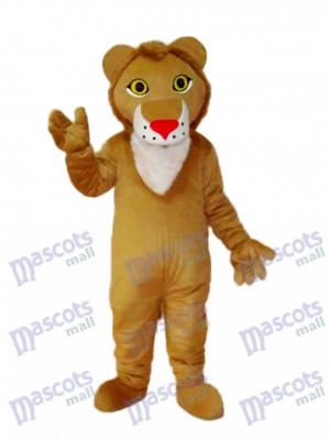 Yellow Lion Mascot Adult Costume Animal