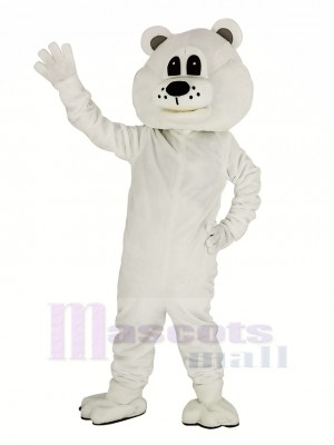 Cute White Bear Mascot Costume Adult