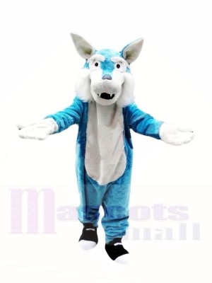 Cheap Blue Wolf Mascot Costumes