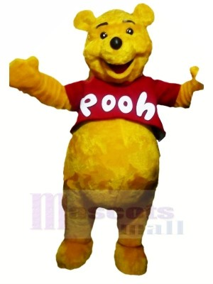 Smiling Winnie Pooh Bear Mascot Costumes Cartoon