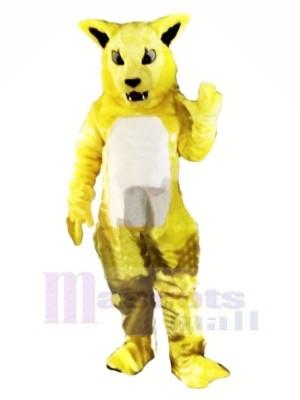 Yellow Fierce Wildcat Mascot Costumes Cartoon