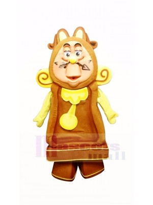 Cogsworth Clock Mascot Costume Cartoon