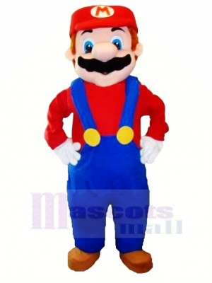 Funny Character Mario Mascot Costume Cartoon