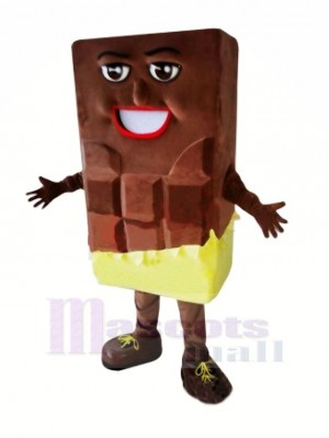 Chocolate Bar Mascot Costume Cartoon