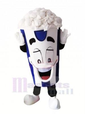 Happy Popcorn Mascot Costume Cartoon