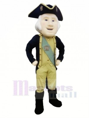 Cool George Washington Mascot Costume Cartoon
