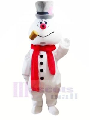 Cute Snowman Mascot Costumes Cartoon Christmas Xmas