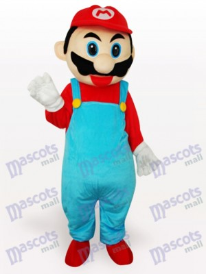 Red Super Mario Bros Anime Adult Mascot Costume