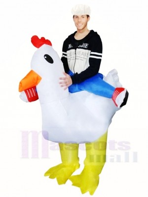 Carry Me Chicken Ride on Rooster Cock Inflatable Halloween Xmas Costumes for Adults