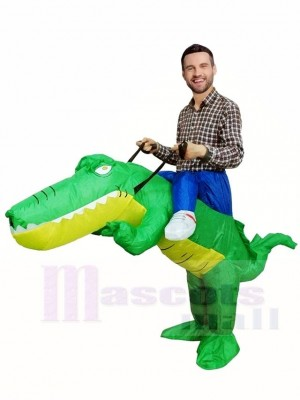 Ride on Crocodile Alligator Inflatable Halloween Xmas Costumes for Adults