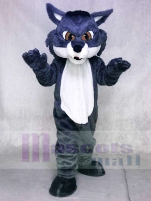 Fierce Gray Snow Fox Mascot Costumes Animal