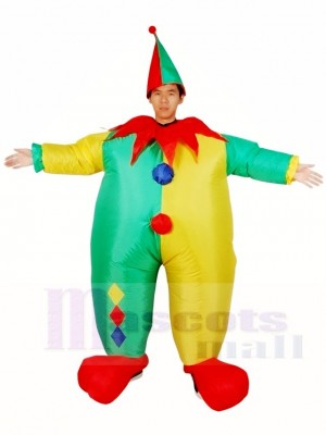 Evil Clown Joker Inflatable Halloween Xmas Costumes for Adults