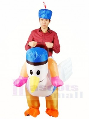 Ride on Sea Gull Rooster Chicken Cock Inflatable Halloween Xmas Costumes for Adults