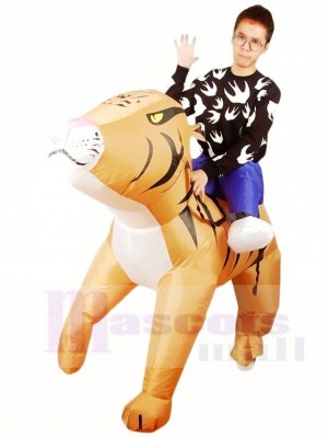 Ride on Tiger Inflatable Halloween Xmas Costumes for Adults