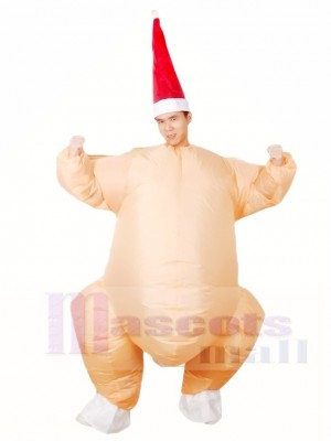 Roast Turkey Chicken Inflatable Halloween Christmas Costumes for Adults