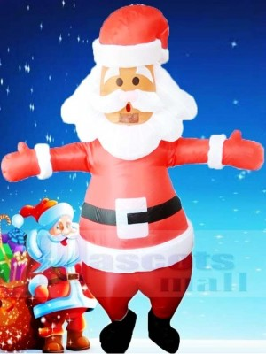 Santa Claus Inflatable Halloween Christmas Xmas Blow Up Costumes for Adults