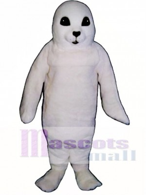 Cute White Baby Seal Mascot Costume