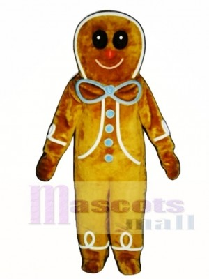 Gingerbread Boy Mascot Costume
