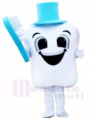 Blue Hat Tooth with Toothbrush for Dentist Clinic Mascot Costumes
