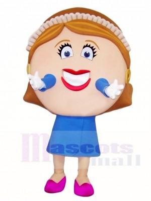 Big Face Woman Mascot Costumes