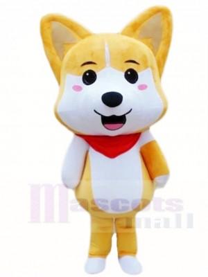 Cute Tan Husky Shiba Inu Lucky Dog Akita Mascot Costumes Animal