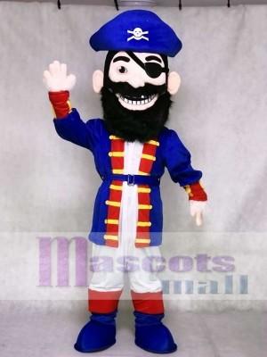 New Redbeard Pirate in Blue Mascot Costumes