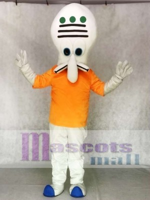 Squidward Mascot Costume Creature from Krusty Krab SpongeBob SquarePants Movie