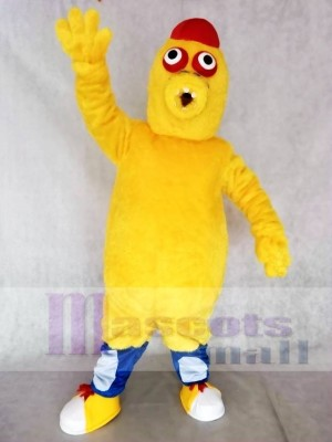 Red Hat Yellow Monster Mascot Costumes