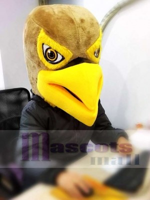 New Brown and Yellow Hawk / Falcon Mascot Head ONLY Animal