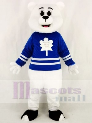 Blue Toronto Maple Leafs Shirt Polar Bear Mascot Costumes Animal