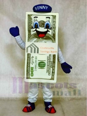 Dollar Bill for Bank Mascot Costumes with Hat
