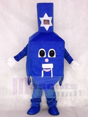 Dreidel Mascot Costumes Jewish Holiday of Hanukkah