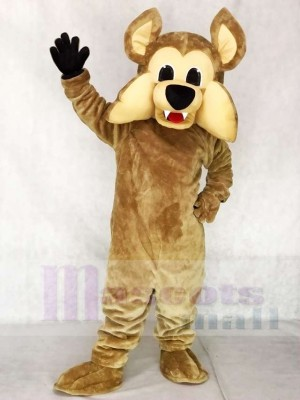 Coyotes Howler the Coyote Mascot Costume with No Shirt Wolf