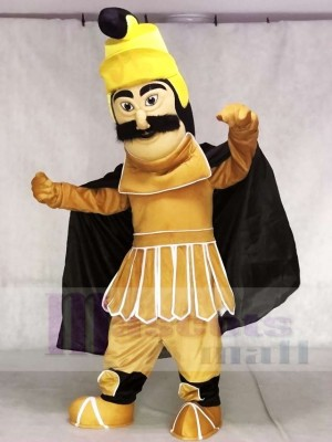 Trojan Warrior Mascot Costumes with Black Cloak