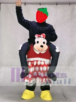 Minnie Mouse Carry Me Ride Piggyback Minnie Mouse Mascot Costume