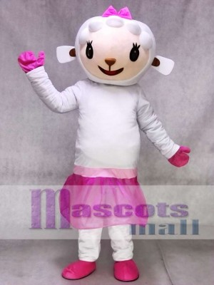 Pink Dress Sheep Lambie from Dr Doc Mcstuffins Mascot Costume Animal