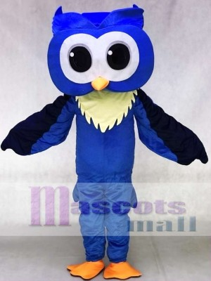 Adult Friendly Big Blue Owl Mascot Costumes Animal