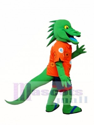 Green Lizard Mascot Costume Iguana Mascot Costume Animal