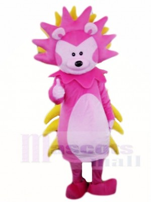 Pink and Yellow Hedgehog Mascot Costumes Animal