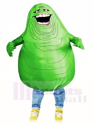 Ghostbusters Slimer Green Monster Inflatable Halloween Blow Up Costumes for Adults