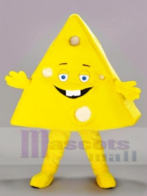 Triangle Shaped Sliced Cheese Mascot Costumes Food