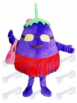 Purple Eggplant Mother Vegetable Mascot Costume Food Plant