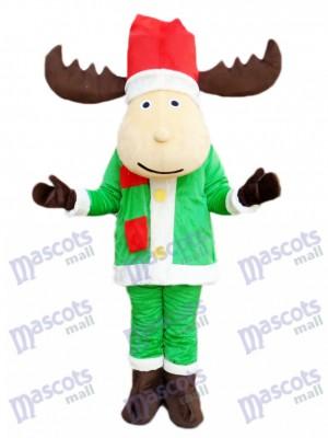 Christmas Deer Reindeer Mascot Costume Cartoon