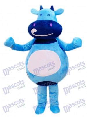 Blue Cattle Calf Mascot Costume Cartoon