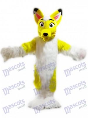 Yellow Husky Dog Fox Mascot Costume Cartoon