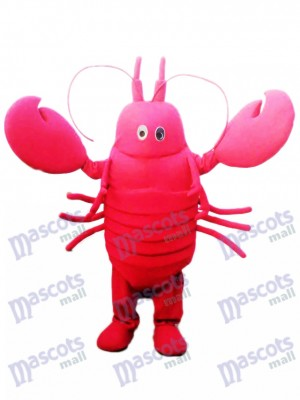 Red Crayfish Mascot Costume Seafood Ocean