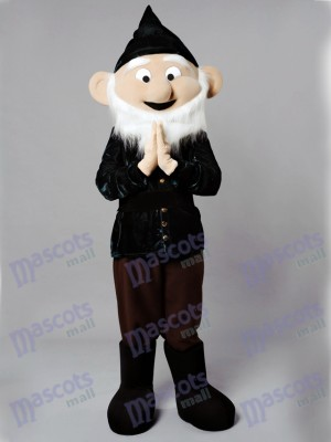 Dwarf Mascot Costume in Black Suit& Hat